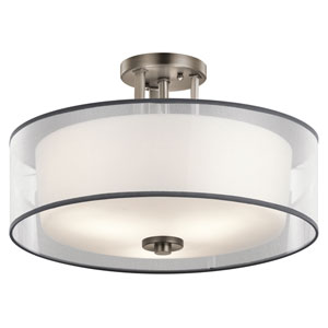 Tallie Antique Pewter Three-Light Semi Flush