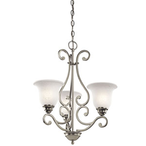 Camerena Three-Light Brushed Nickel Chandelier