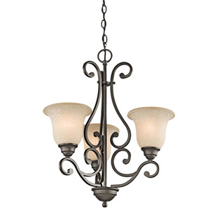 Camerena Olde Bronze Three-Light Chandelier
