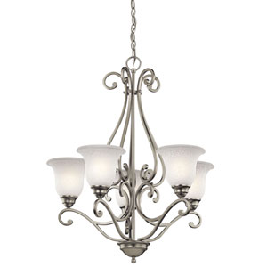 Camerena Five-Light Brushed Nickel Chandelier