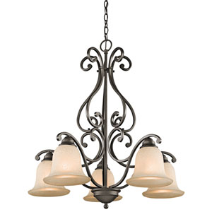 Camerena Olde Bronze Five-Light Chandelier