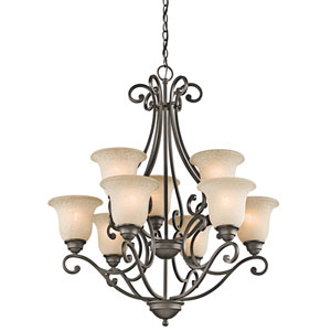 Camerena Olde Bronze Nine-Light Chandelier
