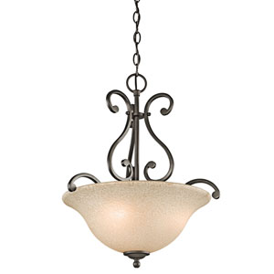 Camerena Olde Bronze Three-Light Inverted Pendant