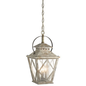 Hayman Bay Distressed Antique White Four Light Pendant