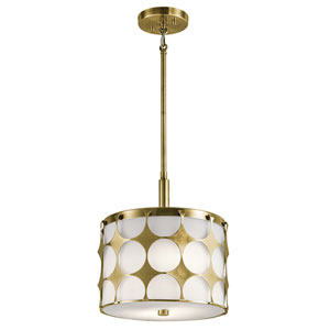 Charles Natural Brass Two-Light Pendant