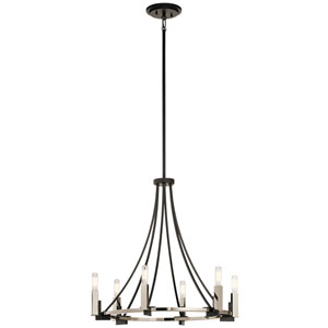 Bensimone Black 24-Inch Six-Light Chandelier