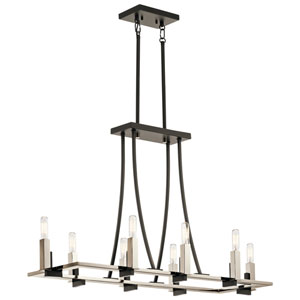 Bensimone Black 14-Inch Eight-Light Pendant