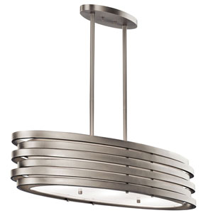 Roswell Brushed Nickel 12.25-Inch Three Light Pendant