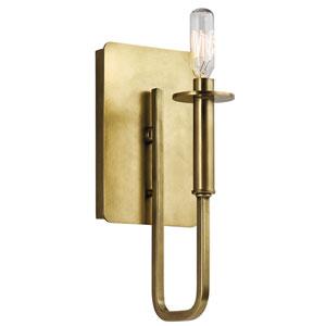 Alden Natural Brass One-Light Wall Sconce