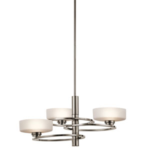 Aleeka Classic Pewter Three Light Large One Tier Chandelier