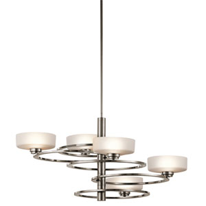 Aleeka Classic Pewter Five Light Medium One Tier Chandelier