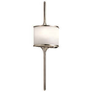 Mona Classic Pewter 6.5-Inch Two-Light Wall Sconce