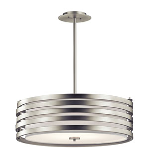 Roswell Brushed Nickel Four-Light Pendant