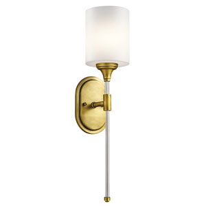 Theo Natural Brass One-Light Wall Sconce