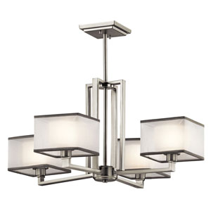 Kailey Brushed Nickel Four Light Medium One Tier Chandelier
