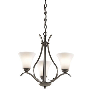 Keiran Olde Bronze Three-Light One Tier Small Chandelier