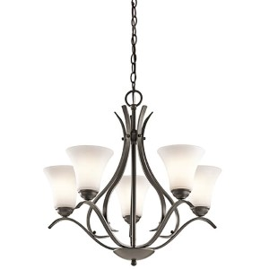 Keiran Olde Bronze Five-Light One Tier Medium Chandelier