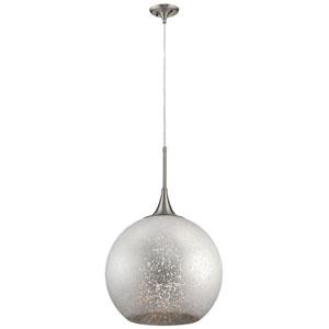 Sitara Brushed Nickel 18-Inch One-Light Pendant