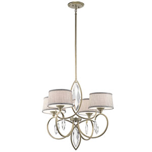 Casilda Sterling Gold Four-Light Chandelier