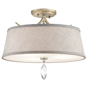 Casilda Sterling Gold Three-Light Semi Flush