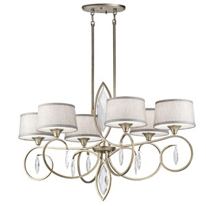 Casilda Sterling Gold Six-Light Chandelier