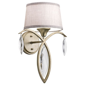 Casilda Sterling Gold One-Light Wall Sconce