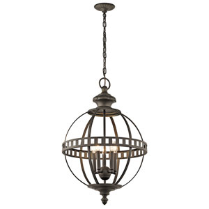 Halleron Olde Bronze Six-Light Pendant