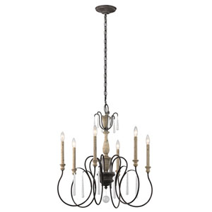 Kimberwick Weathered Zinc Six-Light Chandelier