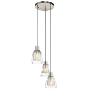 Evie Brushed Nickel Three-Light Pendant