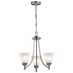 Serena Brushed Nickel Three-Light Chandelier