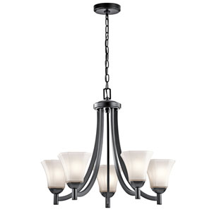 Serena Black Five-Light Chandelier