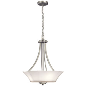 Serena Brushed Nickel Three-Light Pendant