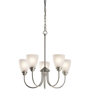 Jolie Brushed Nickel Five-Light Chandelier