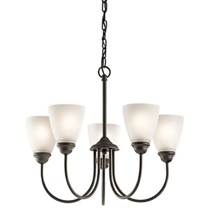 Jolie Olde Bronze Five-Light Chandelier