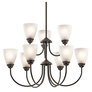 Jolie Olde Bronze Nine-Light Chandelier