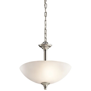 Jolie Brushed Nickel Two-Light Convertible Pendant