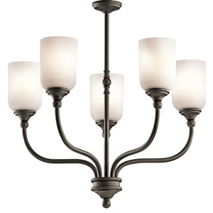 Lilan Olde Bronze Five-Light Chandelier