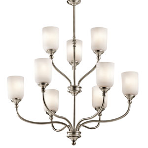 Lilah Antique Pewter Nine-Light Chandelier