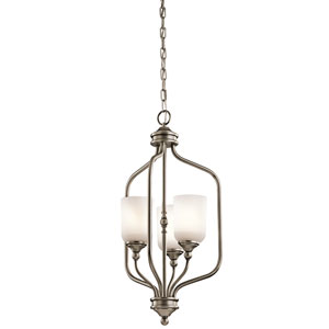 Lilah Antique Pewter Three-Light Foyer Pendant