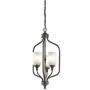 Lilah Olde Bronze Three-Light Foyer Pendant
