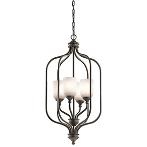 Lilah Olde Bronze Four-Light Foyer Chandelier