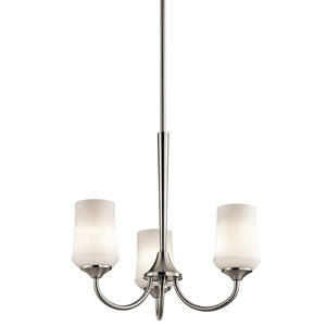 Aubrey Brushed Nickel Three-Light Chandelier