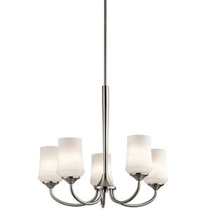 Aubrey Brushed Nickel Five-Light Chandelier