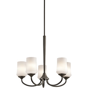 Aubrey Olde Bronze Five-Light Chandelier