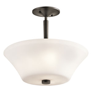 Aubrey Olde Bronze Three-Light Semi Flush