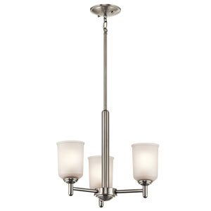 Shailene Brushed Nickel Three-Light Mini Chandelier