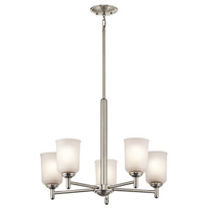 Shailene Brushed Nickel Five-Light Chandelier