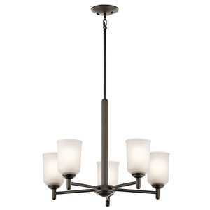 Shailene Olde Bronze Five-Light Chandelier