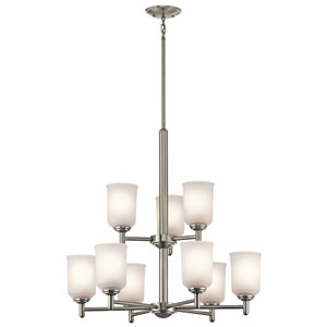 Shailene Brushed Nickel Nine-Light Chandelier