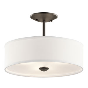 Shailene Olde Bronze One-Light Semi Flush